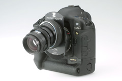 Z�RK Pro-Shift-Adapter an Canon EOS-1 Ds