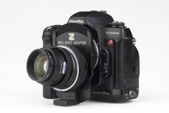Z�RK Pro-Shift-Adapter an Fujifilm Finepix